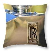 1935 Rolls-royce Phantom II Hood Ornament Throw Pillow