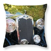 1935 Triumph Southern Cross Front Grill Throw Pillow