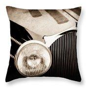 1936 Bugatti Type 57s Corsica Tourer Grille Emblem -1673s Throw Pillow