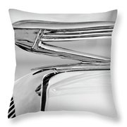 1936 Buick 40 Series Hood Ornament 2 Throw Pillow