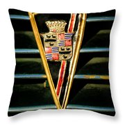 1936 Cadillac Fleetwood Emblem Throw Pillow