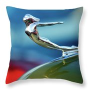 1936 Cadillac Hood Ornament 2 Throw Pillow