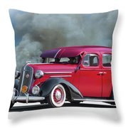 1936 Chevrolet Master Deluxe Sedan Throw Pillow