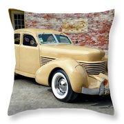 1936 Cord Throw Pillow