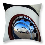 1936 Cord Phaeton Rim Throw Pillow