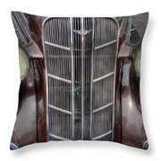 1936 Dodge Grille Throw Pillow