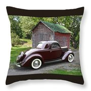1936 Ford 3-window Throw Pillow