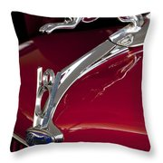 1936 Ford 68 Pickup Hood Ornament Throw Pillow