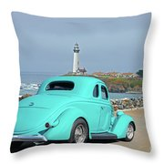 1936 Ford Coupe 'shoreline' 1 Throw Pillow