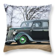 1936 Ford Deluxe Sedan I Throw Pillow