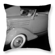 1936 Ford Rumble Seat Cabriolet  Throw Pillow