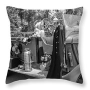 1936 Howe  Black And White Throw Pillow