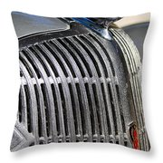 1936 Oldsmobile Hood Ornament Throw Pillow