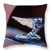 1936 Packard Hood Ornament Throw Pillow