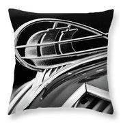 1936 Plymouth Sedan Hood Ornament 2 Throw Pillow