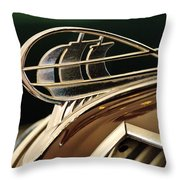 1936 Plymouth Sedan Hood Ornament Throw Pillow