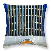1936 Pontiac Emblem Throw Pillow