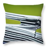 1936 Pontiac Hood Ornament 3 Throw Pillow