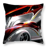 1936 Striped Coupe Throw Pillow