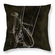 1936 Tandem Motored Biplane Throw Pillow