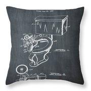 1936 Toilet Bowl Patent Chalk Throw Pillow