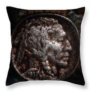 1937 Buffalo Nickel Throw Pillow