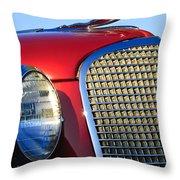 1937 Cadillac V8 Hood Ornament 2 Throw Pillow
