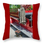 1937  Chevy Fire Engine Throw Pillow