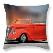 1937 Ford Cabriolet 'old School Vibe II Throw Pillow