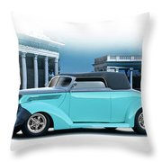 1937 Ford 'classic' Cabriolet Throw Pillow