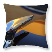 1937 Ford Hood Ornament 3 Throw Pillow