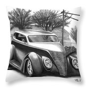1937 Ford Sedan Throw Pillow by Peter Piatt