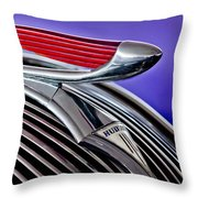 1937 Hudson Terraplane Sedan Hood Ornament 2 Throw Pillow