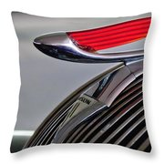 1937 Hudson Terraplane Sedan Hood Ornament Throw Pillow