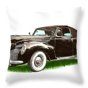 1937 Lincoln Zephyer Throw Pillow