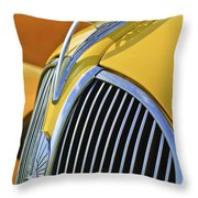 1937 Plymouth Hood Ornament 2 Throw Pillow
