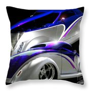 1937 Striped Coupe Throw Pillow