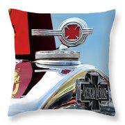 1938 American Lafrance Fire Truck Hood Ornament Throw Pillow by Jill Reger