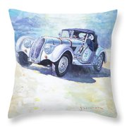1938 Bmw 328 Roadster Caracciola Gp 2016 Winner Throw Pillow