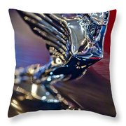 1938 Cadillac V-16 Hood Ornament Throw Pillow