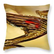 1938 Cadillac V-16 Sedan Hood Ornament 2 Throw Pillow