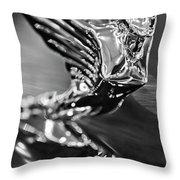 1938 Cadillac V16 Hood Ornament Throw Pillow