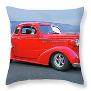 1938 Chevrolet 'all Business. Coupe Throw Pillow