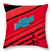 1938 Chevrolet Pickup Truck Emblem Throw Pillow by Jill Reger