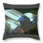 1938 Delage D8 - 120 Aerodynamic Coupe Front Grill Throw Pillow