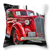 1938 Diamond T Hdr Throw Pillow