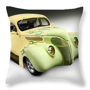 1938 Hot Rod Ford Coupe Throw Pillow