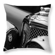 1938 Jaguar Ss100 3.5-liter Roadster Grille Throw Pillow