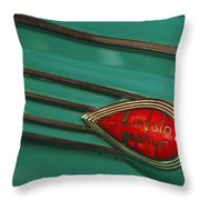 1938 Lincoln Zephyr Convertible Sedan Emblem Throw Pillow