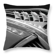 1938 Plymouth Hood Ornament 2 Throw Pillow